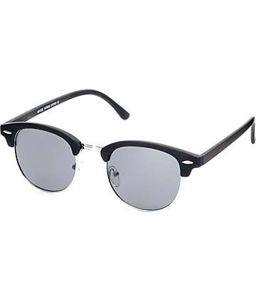 South Bay Matte Black & Silver Sunglasses
