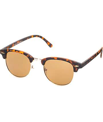 South Bay Matte Tortoise Shell & Gold Sunglasses