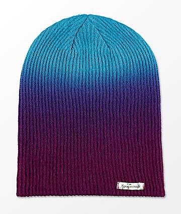 Spacecraft Aurora Purple Fade Slouch Beanie