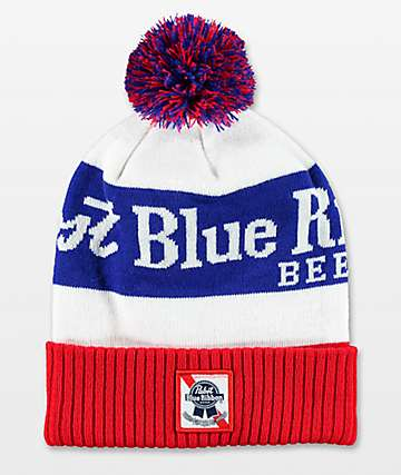 Spacecraft PBR Red, White, and Blue Pom Beanie