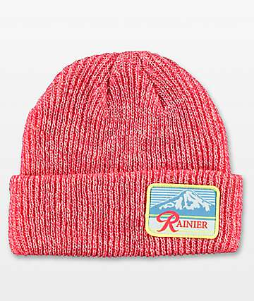 Spacecraft Rainier Red & White Dock Beanie