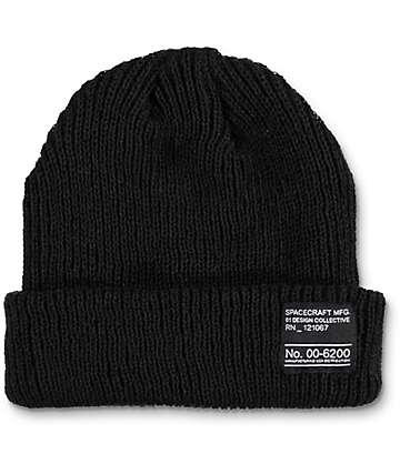 Spacecraft The Dock Black Beanie