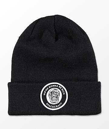 Spacecraft We're Gunna Be Rich Otis Black Beanie