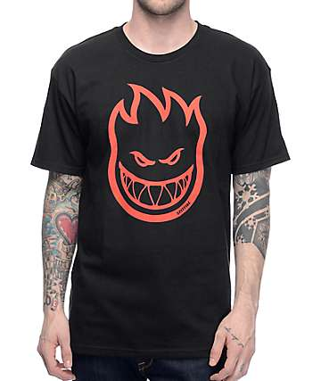Spitfire Big Head Black & Red T-Shirt