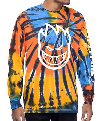 Spitfire Big Head Hombre Tie Dye Long Sleeve T-Shirt