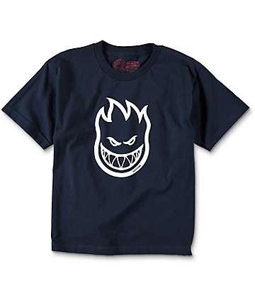 Spitfire Bighead Boys Navy T-Shirt