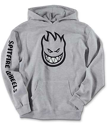 Spitfire Bighead Full Sleeve Grey Youth Hoodie