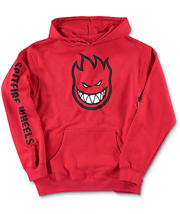 Spitfire Bighead Full Sleeve Red Youth Hoodie