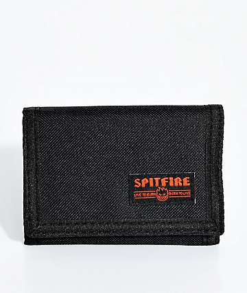 Spitfire Bighead Live To Burn Embroidered Trifold Wallet