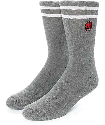 Spitfire Bighead Old English Charcoal Crew Socks