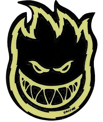 Spitfire Black Glow-In-The-Dark Bolts Small Sticker