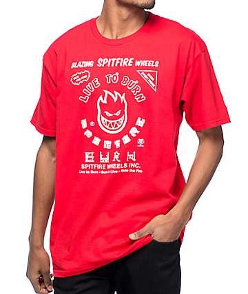 Spitfire Blazing camiseta roja