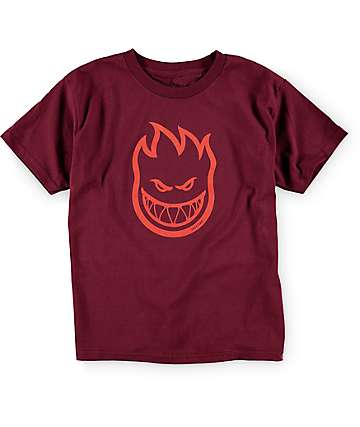 Spitfire Boys Bighead Dark Red T-Shirt