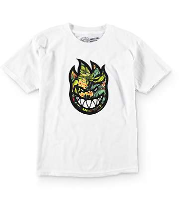 Spitfire Boys Bighead Hawaiian White T-Shirt
