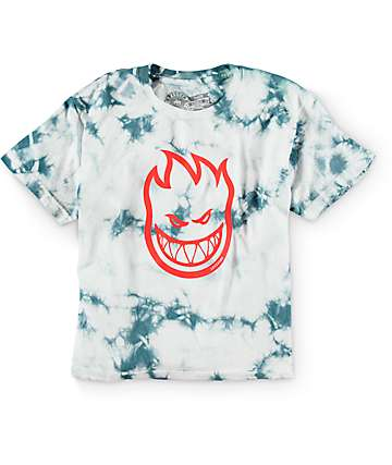 Spitfire Boys Bighead Light Grey Tie Dye T-Shirt