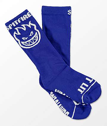 Spitfire Boys Bighead Outliner Royal Blue Crew Socks