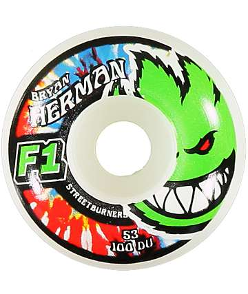 Spitfire Bryan Herman Neon Kush F1 53mm Skateboard Wheels
