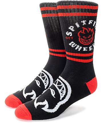 Spitfire Classic Bighead Black & Red Crew Socks