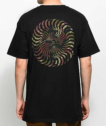 Spitfire Classic Swirl Black T-Shirt