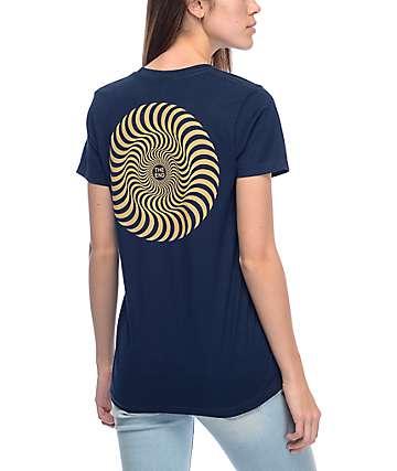 Spitfire Classic Swirl Navy T-Shirt