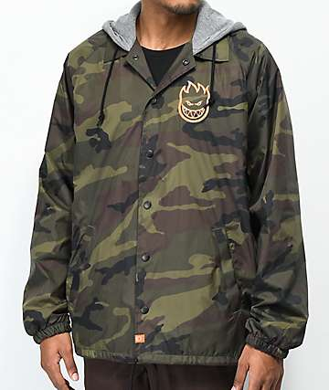 Spitfire Covert Camo Hooded Jacket