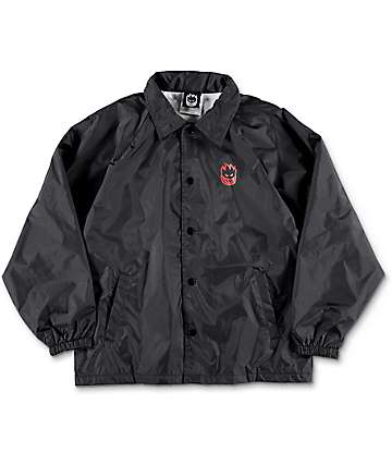 Spitfire Double Big Head Black Boys Coaches Jacket