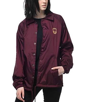 Spitfire Double Bighead chaqueta entrenador en color vino