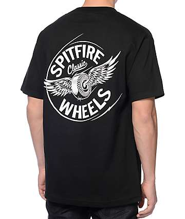 Spitfire Flying Classic Black Pocket T-Shirt