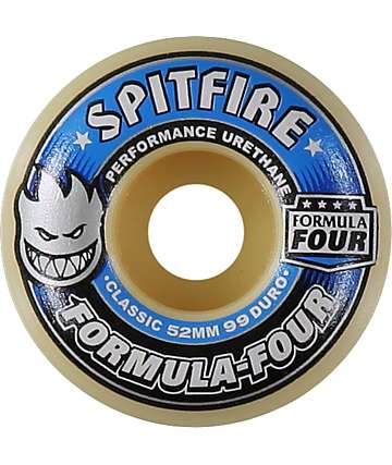 Spitfire Formula Four 52mm 99 Duro Skateboard Wheels