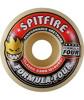 Spitfire Formula Four 53mm 101 Duro Skateboard Wheels