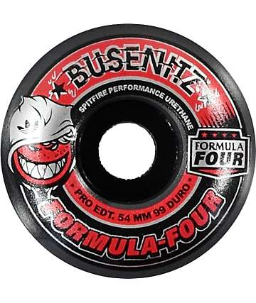 Spitfire Formula Four 54mm Adidas X Busenitz 99 Duro Smoke Skateboard Wheels