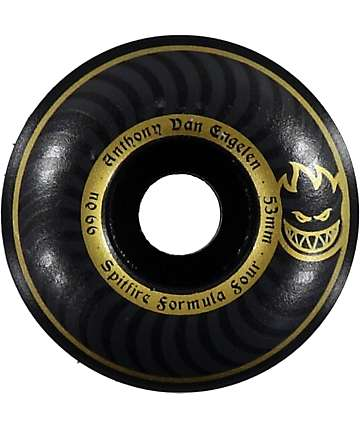 Spitfire Formula Four Blackouts 53MM 99 Duro Skateboard Wheels