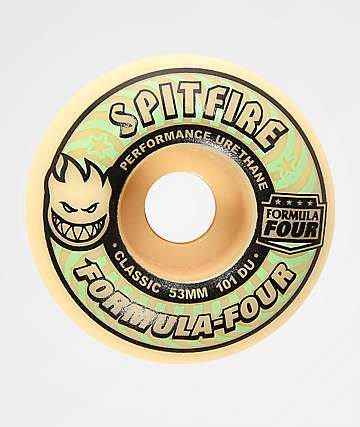Spitfire Formula Four Classic 53mm 101a Glow In The Dark Skateboard Wheels