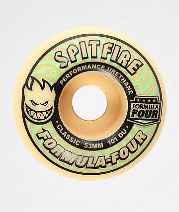 Spitfire Formula Four Classic 53mm 101a ruedas de skate que brillan en la oscuridad