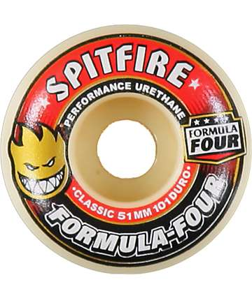 Spitfire Formula Four Classic Red & White 51mm Skateboard Wheels