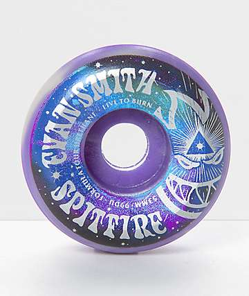 Spitfire Formula Four Smith Purple Swirl 53mm 99a Skateboard Wheels