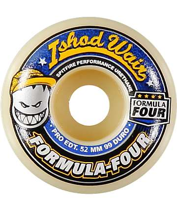 Spitfire Ishod Formula Four 52mm 99a Skateboard Wheels