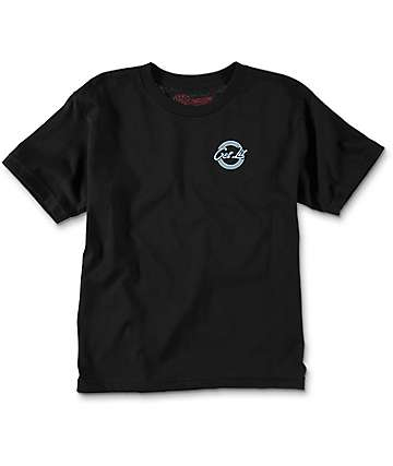 Spitfire Neon Burner Black Boys T-Shirt
