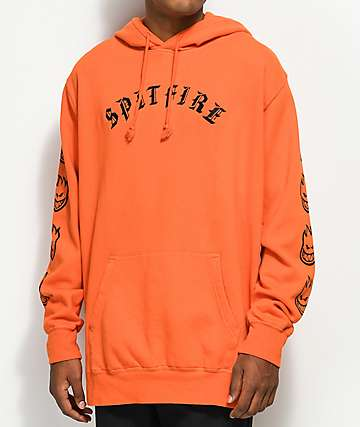 Spitfire Old English Orange & Black Hoodie