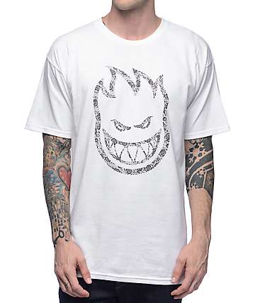 Spitfire Paisley Bighead White T-Shirt
