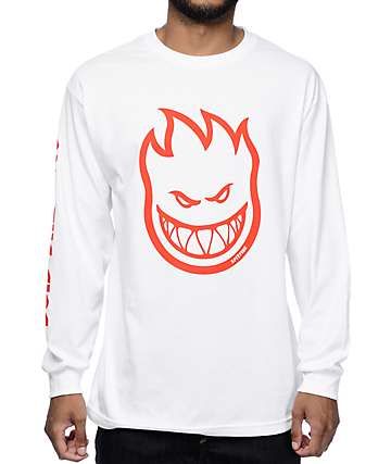 Spitfire Ride The Fire White Long Sleeve T-Shirt