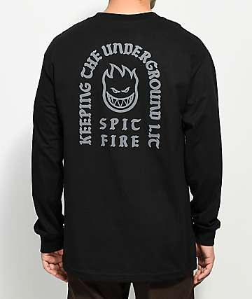 Spitfire Steady Rocking Black Long Sleeve T-Shirt