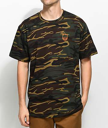 Spitfire Stock Bighead camiseta camuflada bordada