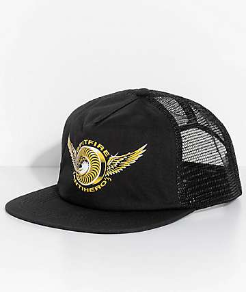 Spitfire x Anti Hero Black Trucker Hat