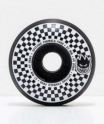 Spitfire x Vans Formula Four Classic 53mm 99a ruedas de skate a cuadros en negro y blanco