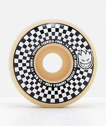 Spitfire x Vans Formula Four Conical 54mm 99a White & Black Checkerboard Skateboard Wheels