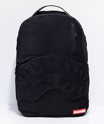 Sprayground Black Ghost Nubuck Shark Backpack