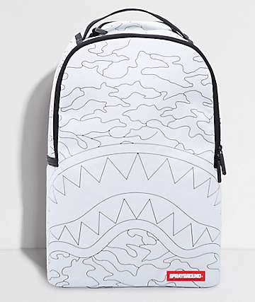 Sprayground DYI Shark White & Black 20L Backpack