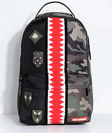 Sprayground Split Camo Patch Backpack