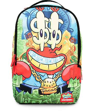 Sprayground SpongeBob Money Krabs 2.0 Backpack